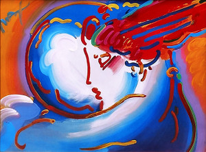 I LOVE THE WORLD (MIXED MEDIA) BY PETER MAX