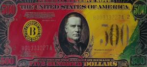 FIVE HUNDRED DOLLAR BILL BY STEVE KAUFMAN