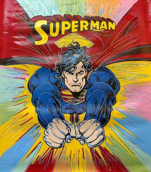 SUPERMAN - BURST BY STEVE KAUFMAN