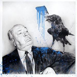 iHITCHCOCK (BLUE) BY MR. BRAINWASH
