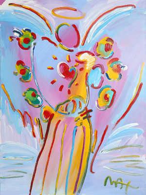 ANGEL WITH HEART VERSION IV BY PETER MAX