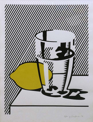 UNTITLED (STILL LIFE WITH LEMON AND GLASS) BY ROY LICHTENSTEIN