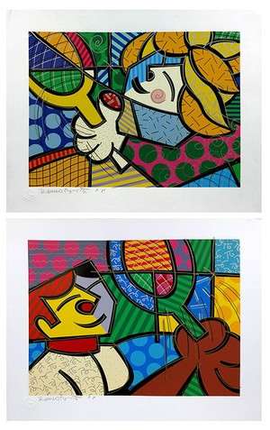 TENNIS SUITE (EMBELLISHED) BY ROMERO BRITTO