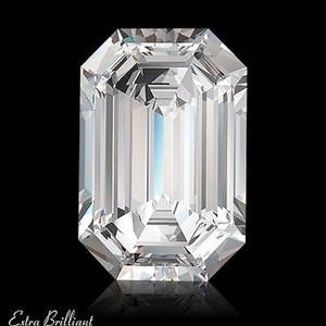 GIA Certified 2.0 Carat Emerald Diamond D Color VVS2 Clarity Excellent Investment