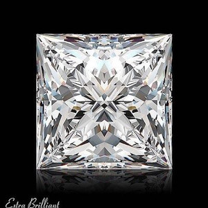 GIA Certified 2.0 Carat Princess Diamond D Color VS1 Clarity Excellent Investment