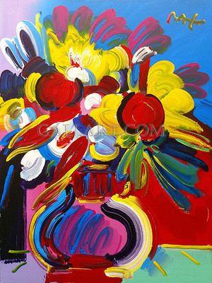 FLOWER VASE TODAY BY PETER MAX