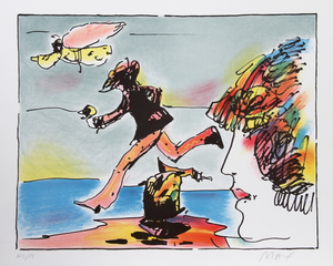 RUNNER AND FLYING SAGE BY PETER MAX