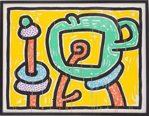 FLOWERS III BY KEITH HARING