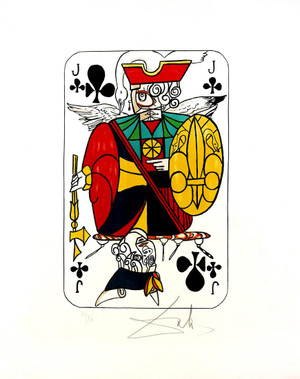 JACK OF CLUBS BY SALVADOR DALI