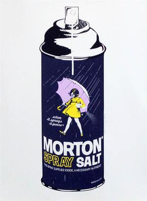 MORTON SALT SPRAY BY MR. BRAINWASH