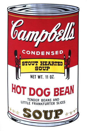 CAMPBELL'S SOUP II: HOT DOG BEAN FS II.59 BY ANDY WARHOL