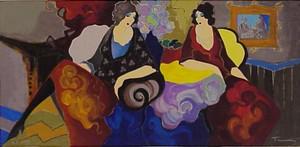 LADIES AT CAFE BY ITZCHAK TARKAY