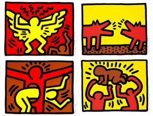 POP SHOP QUAD VI BY KEITH HARING