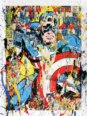 CAPTAIN AMERICA (HAND-FINISHED VARIANT) BY MR. BRAINWASH