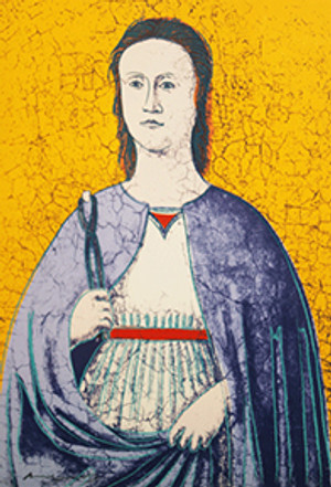 SAINT APOLLONIA BY ANDY WARHOL