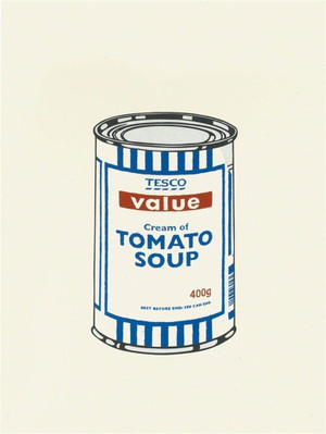 TESCO TOMATO SOUP CAN BY BANKSY