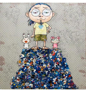 ON THE BLUE MOUND OF THE DEAD BY TAKASHI MURAKAMI