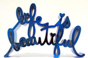 LIFE IS BEAUTIFUL - HARD CANDY (BLUE) BY MR. BRAINWASH