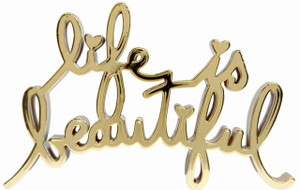 LIFE IS BEAUTIFUL - HARD CANDY (GOLD) BY MR. BRAINWASH