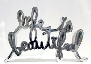 LIFE IS BEAUTIFUL - HARD CANDY (SILVER) BY MR. BRAINWASH