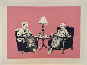GRANNIES (SIGNED) BY BANKSY