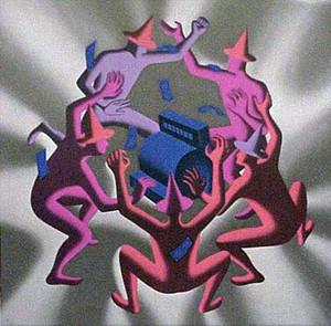 CASH DANCE (GREY) BY MARK KOSTABI