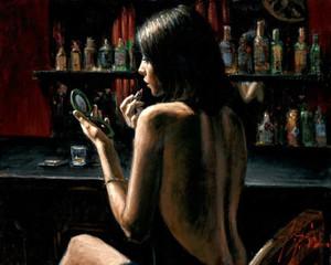 ANNA AT THE BAR BY FABIAN PEREZ