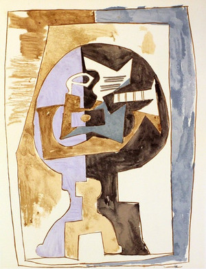 GUERIDON ET GUITARE BY MARINA PICASSO