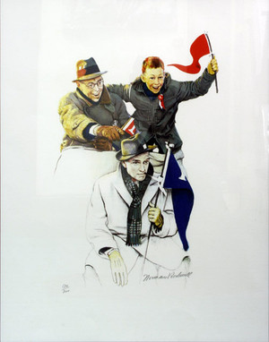 CHEERING BY NORMAN ROCKWELL