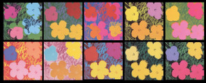 FLOWERS (PORTFOLIO OF 10) BY ANDY WARHOL FOR SUNDAY B. MORNING