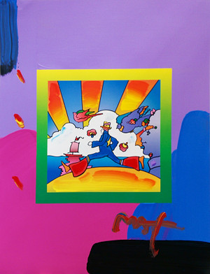 COSMIC RUNNER (OVERPAINT) BY PETER MAX