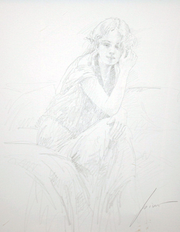 SILENT CONTEMPLATION (DRAWING) BY PINO