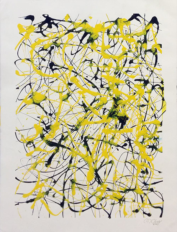 ABSTRACT (BLACK AND YELLOW) BY MARIO CHUY