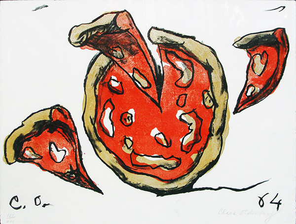 FLYING PIZZA BY CLAES OLDENBURG