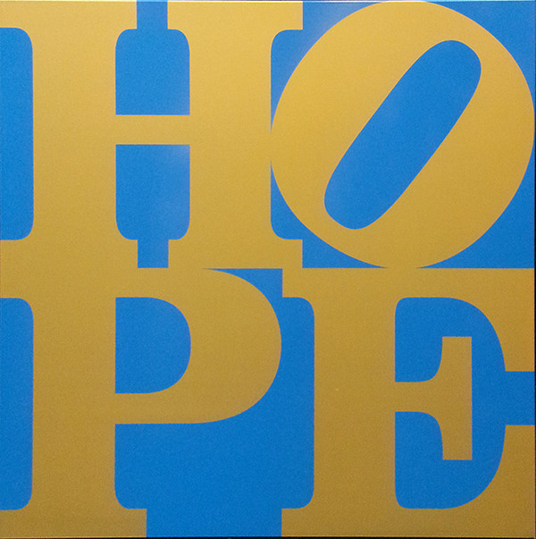 HOPE (BLUE / GOLD) BY ROBERT INDIANA