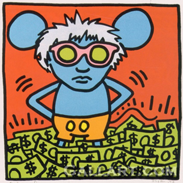 ANDY MOUSE I BY ANDY WARHOL - KEITH HARING
