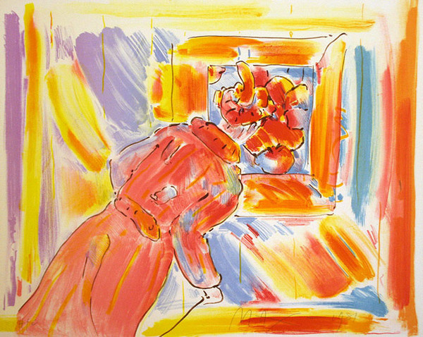 AT THE PICTURE BY PETER MAX
