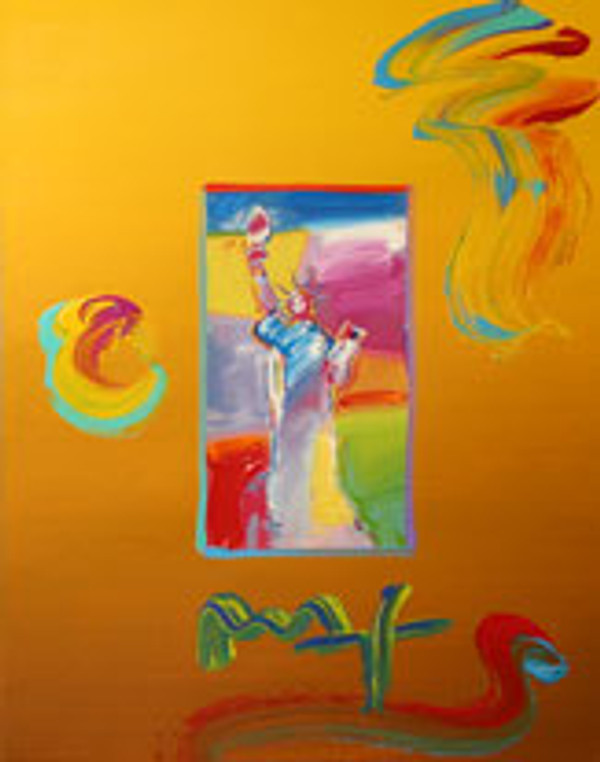 STATUE OF LIBERTY (OVERPAINT) BY PETER MAX
