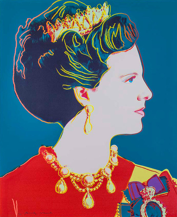 QUEEN MARGRETHE II OF DENMARK (BLUE) FS II.344 BY ANDY WARHOL