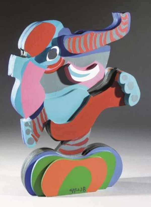 DANCING ELEPHANT BY KAREL APPEL