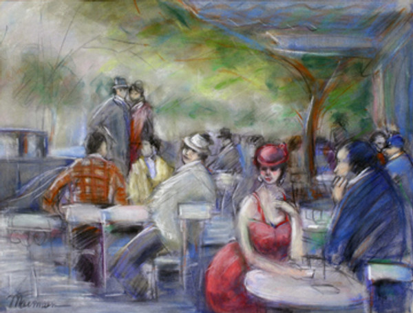 UNKNOWN (CAFE SCENE) BY ISAAC MAIMON