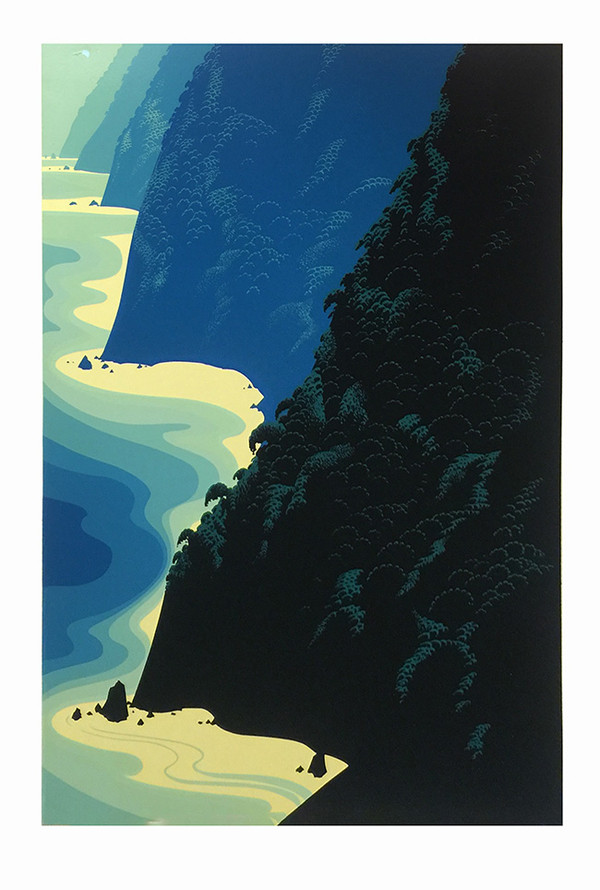 BIG BLUE SUR BY EYVIND EARLE