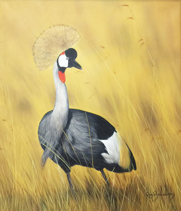AFRICAN CROWNED CRANE BY RON BALABAN