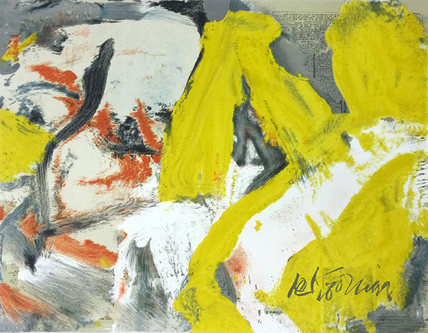 MAN AND THE BLONDE BY WILLEM DE KOONING
