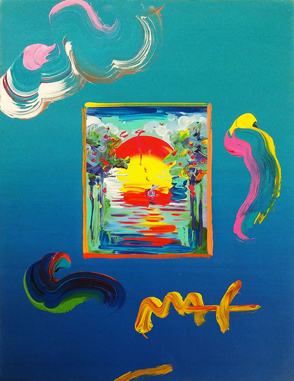 BETTER WORLD I (OVERPAINT) BY PETER MAX
