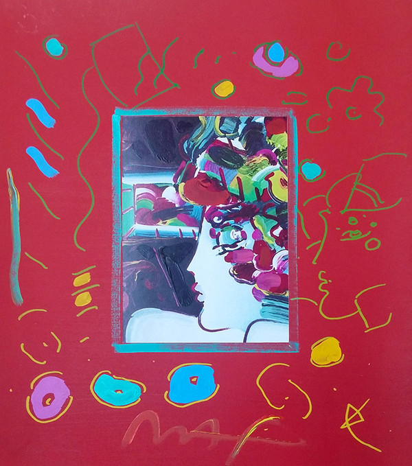 BLUSHING BEAUTY II (OVERPAINT) BY PETER MAX