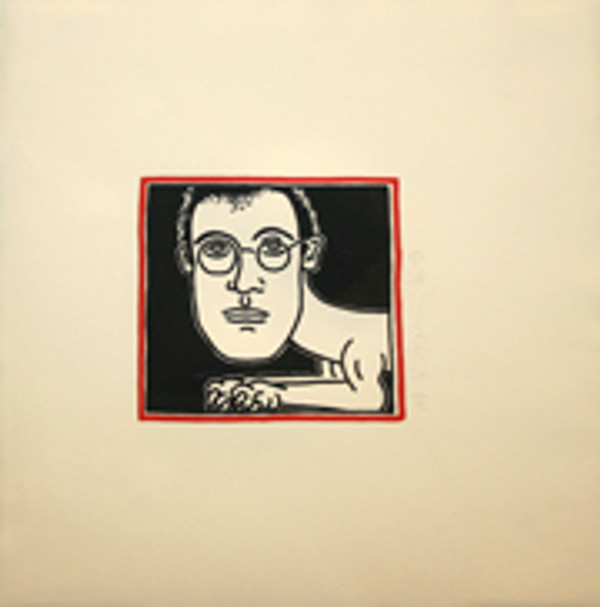 SELF PORTRAIT INVITATION FOR DINNER BY KEITH HARING