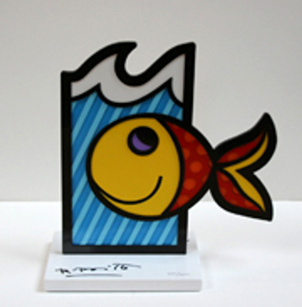 BOOM FISH (WHITE BASE) BY ROMERO BRITTO