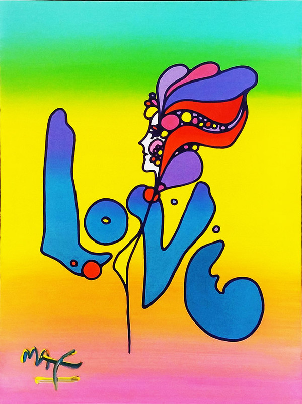 LOVE VERSION II BY PETER MAX