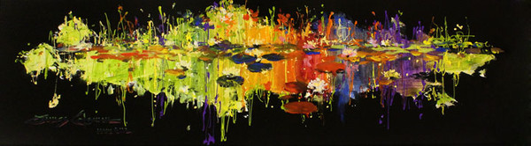 LILY IN RADIANT POND BY JAMES COLEMAN